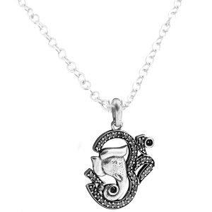 ac7940c5f 925 Sterling silver hindu god OM & Ganesh religion pendant <span  class=